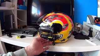 getlinkyoutube.com-Sony Action Cam HDR AS15 helmet side mount using gopro mounts