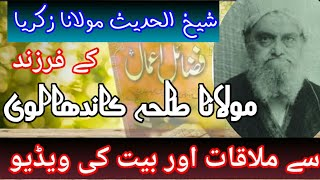 Molana Talha s/o Shakh-ul Hadees Hazrat Zakria (rahmatullah alaih)