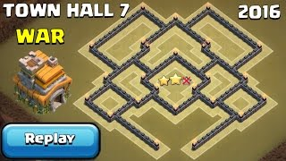 getlinkyoutube.com-TH7 WAR BASE ANTI 3 Star + REPLAYS PROOF UNDEFEATED - Clash of Clans