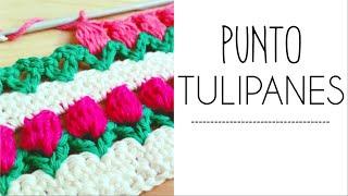 getlinkyoutube.com-Punto TULIPANES en fila a Crochet - #PuntoPedia