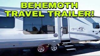 Behemoth Fifth Wheel Like Travel Trailer  This Rv Is Huge  Open Range 323rls