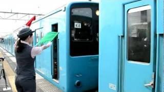 京葉線201系、誉田駅での連結作業