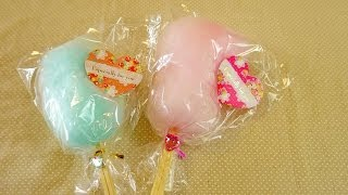 getlinkyoutube.com-Cotton Candy Machine & Wrapping 綿菓子機 コットンキャンディーメーカー ラッピング