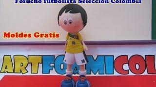 FOFUCHO FUTBOLISTA SELECCION COLOMBIA JAMES RODRIGUEZ CON MOLDES
