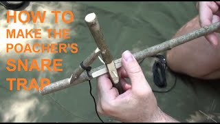 getlinkyoutube.com-How to make the poacher's snare trap