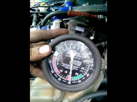 Работа вакуумного насоса ТД42Т (установлен на ремень ГУра мотор ТД42Т 12в)
