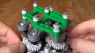 getlinkyoutube.com-Lego technic linked cranks puzzle