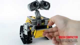 getlinkyoutube.com-LEGO Wall-E 21303 Ideas Review & Speed build - Jadlam.com