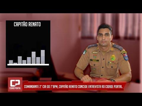 Comandante 2ª Cia do 7º BPM da Polícia Militar em Goioerê, Capitão Renato fala sobre as Câmeras de Monitoramento
