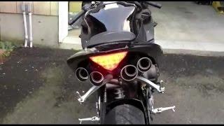 getlinkyoutube.com-Most loud sports bike exhaust sound system..!!