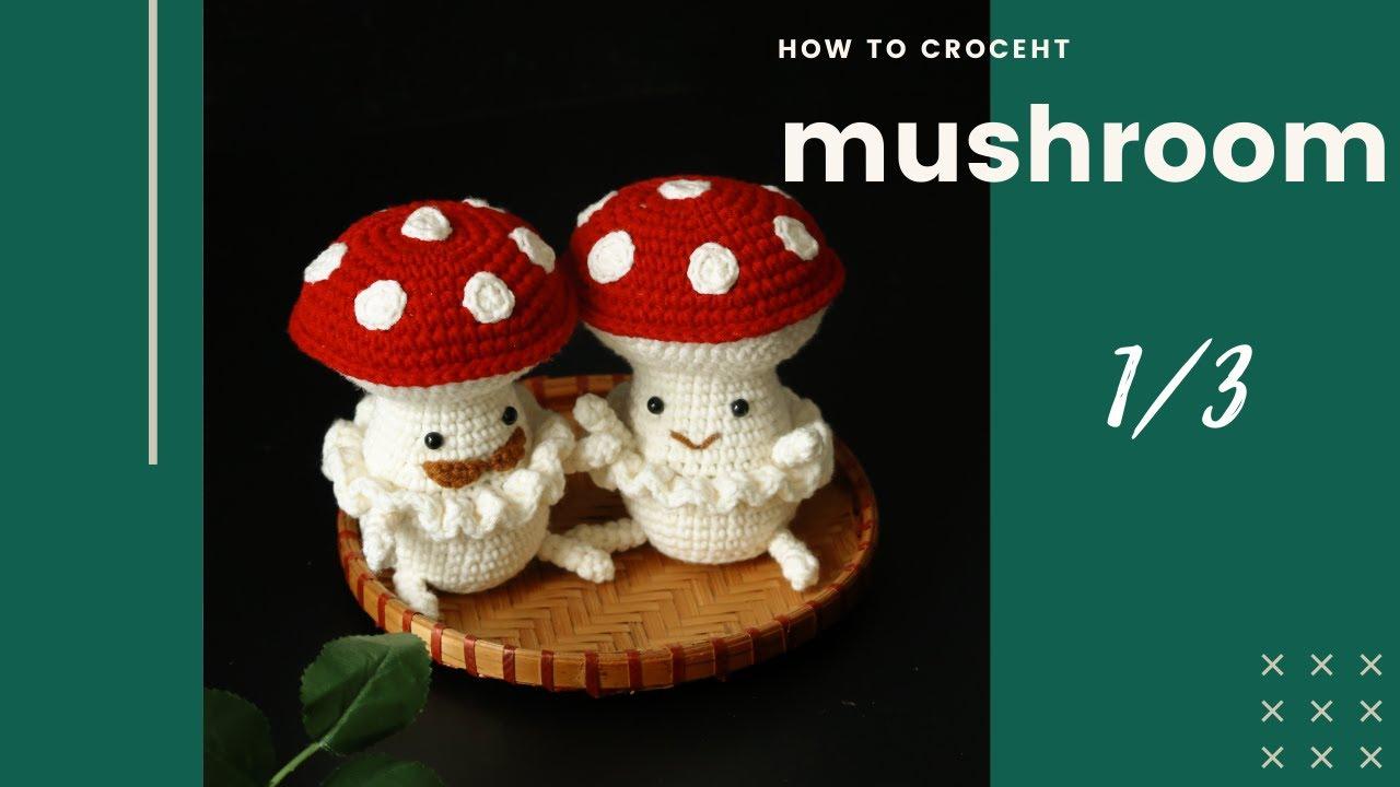 Crochet tutorial: Amigurumi Mushroom couple love