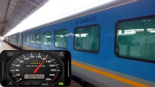 160 Kph Tornado ride onboard Gatimaan Express - Indian Fastest Train