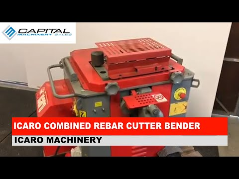ICARO Combined Rebar Cutter Bender Operation