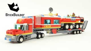 getlinkyoutube.com-Lego City 4430 Fire Transporter - Lego Speed Build