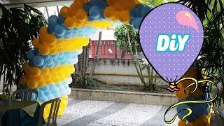 getlinkyoutube.com-Como Fazer Tunel de Balões  - How Tunel balloons