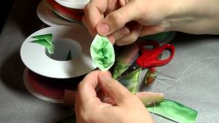 getlinkyoutube.com-How to make French ribbonwork leaves