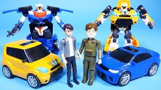 Tobot car toys transformers robot cars Hello Carbot and Deltatron 또봇