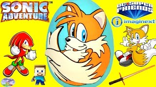 getlinkyoutube.com-Sonic The Hedgehog Miles Tails Giant Play Doh Surprise Egg Imaginext Toys Star Wars Minecraft SETC