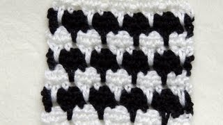 getlinkyoutube.com-Crochet Punto Fantasia en Blanco y Negro # 1