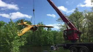 Airplane Removal From River