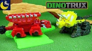 getlinkyoutube.com-Rare Dinotrux Toys! Red Drago Leader of the Ankylodumps & Tar Pit Dozer Diecast Toys from Episode 1