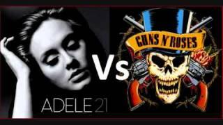 getlinkyoutube.com-Adele Vs Guns N' Roses - 'Someone Likes Knockin' On Heaven's Door' (MASH UP BY @daftbeatles)