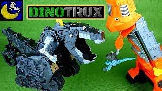 getlinkyoutube.com-Dinotrux Shadow Ty Rux Toy, Talking Dozer and Skya Tall Slide Playset Toys Revvit, Scraptors & MORE!