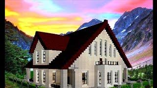 getlinkyoutube.com-マインクラフト 家の作り方 / スイス風家の作り方