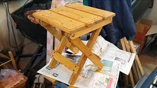 getlinkyoutube.com-Раскладной стул своими руками. Продолжение. Homemade folding chair. Continued.