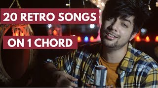 Old Hindi Songs Mashup | 20 Songs On ONE CHORD | Siddharth Slathia