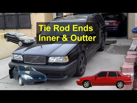 How to replace tie rod ends, Volvo 850, S70, V70 and other front wheel drive vehicles - VOTD