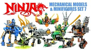 getlinkyoutube.com-Ninjago Airjitzu Skybound Mech Models Unofficial LEGO Set 7 w/ Jay Cole Zane Lloyd & Pirate Flyers