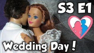 "getlinkyoutube.com-S3 E1 ""Midge and Alan's Wedding Day"" | The Barbie Happy Family Show"