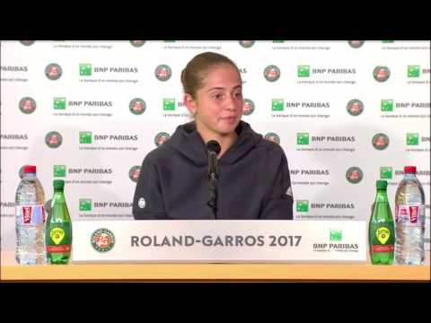 Jeļena Ostapenko Press Conference RG17 - Before the Final