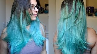 Duvidas Frequentes + Como pintar o cabelo com anilina e chegar no Turquesa