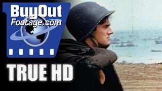 getlinkyoutube.com-HD Historic Stock Footage WWII Color NORMANDY OMAHA BEACH
