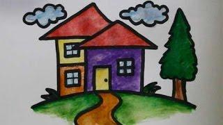 getlinkyoutube.com-cara menggambar rumah