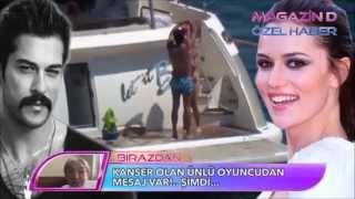 getlinkyoutube.com-Burak Ozçivit & Fahriye Evcen ( Bodrum tatili) MAGAZIN D 29/08/2015