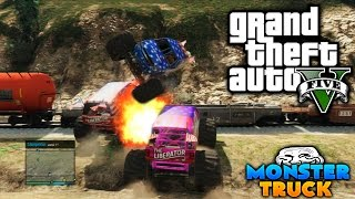 "GTA V ONLINE | Funny Moments "" DESCENSO MONSTER TRUCK "" Bukake a Markos Micz 