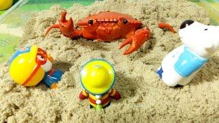 getlinkyoutube.com-꽃게의 습격! ★뽀로로 장난감 애니 カニの襲撃 おもちゃアニメ