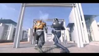 getlinkyoutube.com-Kamen Rider Scissors VS Kamen Rider Knight