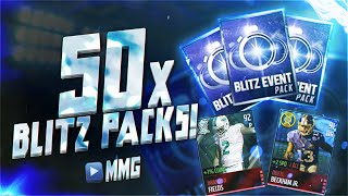 getlinkyoutube.com-50x Blitz Packs! 30+ ELITES! MY BEST PACK OPENING EVER! Madden Mobile