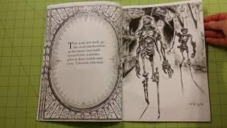getlinkyoutube.com-The Alice's nightmare in wonderland adult coloring book review flip through
