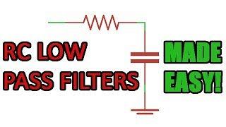Passive RC low pass filter tutorial! width=