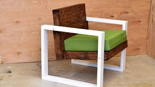 getlinkyoutube.com-Modern Outdoor Chair | DIY Build