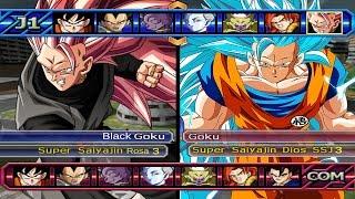 getlinkyoutube.com-Dragon Ball Z Budokai Tenkaichi 3 - Black Goku SSJ Rose 3 VS Goku SSGSS 3 Red Potara (Epic Fight)