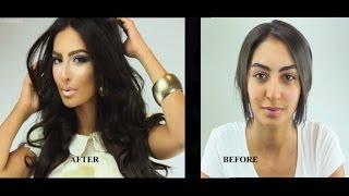 getlinkyoutube.com-Kim Kardashian Inspired Makeup By Hanan Alnajadah حنان النجاده