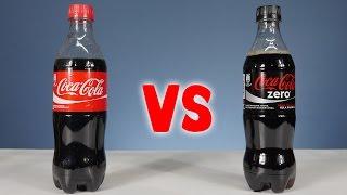 getlinkyoutube.com-Coca Cola vs Coca Cola Zero - Science Experiments with Coca-Cola by Home Science