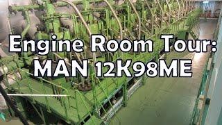 getlinkyoutube.com-Engine Room Tour - MAN 12K98ME