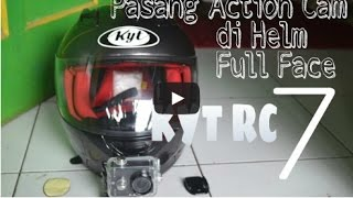 getlinkyoutube.com-Pasang Xiaomi Yi Action Cam di Helm Fullface KYT RC 7
